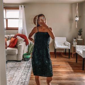 WHBM strapless soutache dress